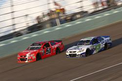 Justin Allgaier, HScott Motorsports Chevrolet and Casey Mears, Germain Racing Chevrolet