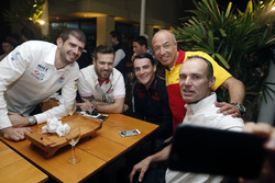 Tom Coronel, Chevrolet RML Cruze TC1, ROAL Motorsport, Norbert Michelisz, Honda Civic WTCC, Zengo Motorsport and Tiago Monteiro, Honda Civic WTCC, Honda Racing Team JAS