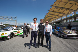 Cyrille Taesch-Wahlen, Asian Le Mans Series operations manager, Christophe Profit, Onroak Automotive sales manager and Pierre Fillon, ACO president