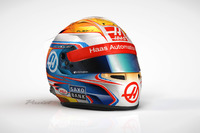 Formula 1 Photos - Helmet of Romain Grosjean, Haas F1 Team