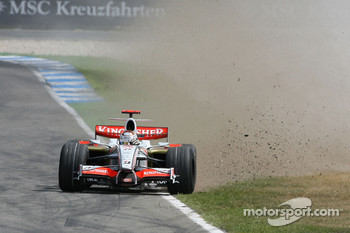 Adrian Sutil, Force India F1 Team in the gravel