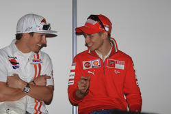 Post-qualifying press conference: Nicky Hayden and Casey Stoner