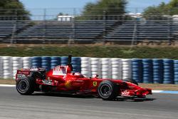 Kimi Raikkonen, Scuderia Ferrari, F2008, slick tyres