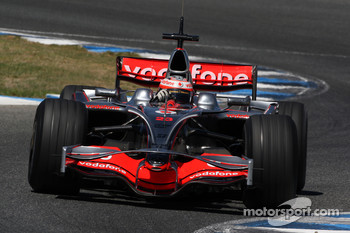 Heikki Kovalainen, McLaren Mercedes, MP4-23, with new nose wings / antler wings