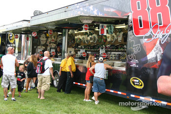Merchandising trailer of Dale Earnhardt Jr.