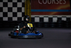Drivers and media go-kart event: Ron Fellows