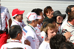 The Toyota F1 Team celebrate