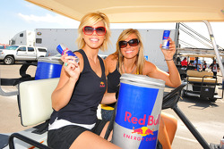 Two very friendly Red Bull girls