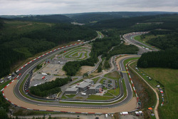 Aerial view of Spa-Francorchamps on Sunday