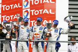 GT1 podium: third place Philipp Peter, Allan Simonsen, Darren Turner and Andrew Thompson