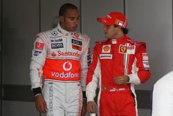 Lewis Hamilton, McLaren Mercedes and Felipe Massa, Scuderia Ferrari