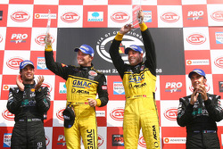 GT1 podium: class and overall winners Marcel Fassler and Jean-Denis Deletraz