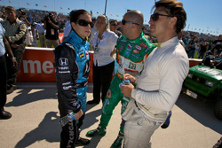Danica Patrick, Tony Kanaan and Oriol Servia