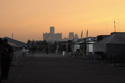 Sunset on the The Raceway on Belle Isle paddock