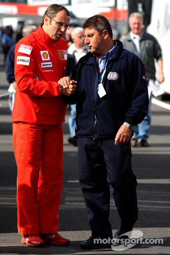 Stefano Domenicali, Scuderia Ferrari, Sporting Director talks with the FIA