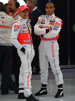 Heikki Kovalainen, McLaren Mercedes and Lewis Hamilton, McLaren Mercedes
