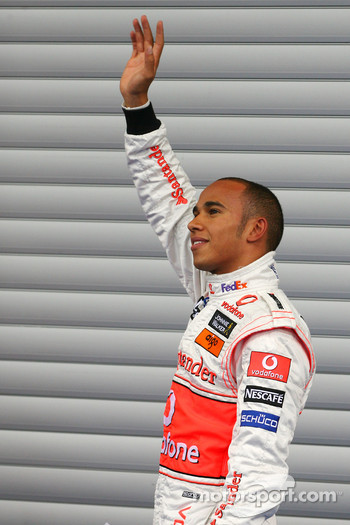 Pole winner Lewis Hamilton, McLaren Mercedes