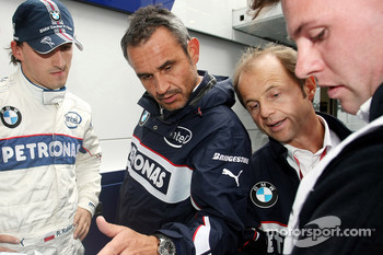 Robert Kubica,  BMW Sauber F1 Team and Beat Zehnder, BMW Sauber F1 Team, Team Manager
