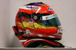 Helmet of Timo Glock, Toyota F1 Team