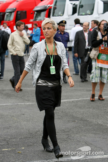 The girlfriend of Christian Klien, Test Driver, BMW Sauber F1 Team