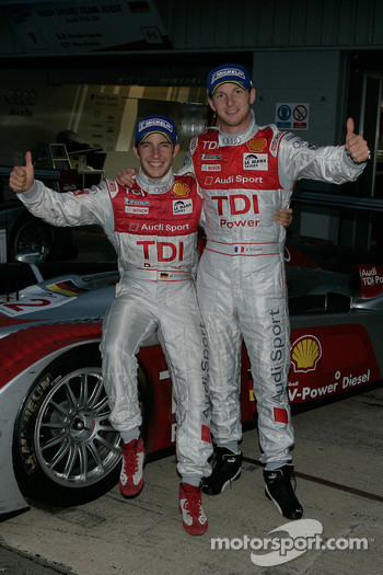 Le Mans Series 2008 Champions Alexandre Prmat and Mike Rockenfeller celebrate
