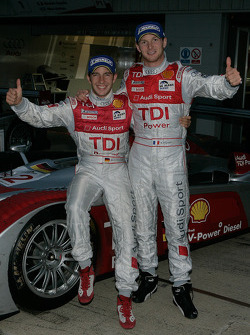 Le Mans Series 2008 Champions Alexandre Prémat and Mike Rockenfeller celebrate