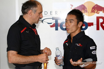 Takuma Sato, Scuderia Toro Rosso with Franz Tost, Scuderia Toro Rosso, Team Principal