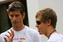 Sebastian Vettel, Scuderia Toro Rosso and Mark Webber, Red Bull Racing