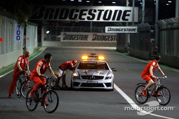 Safety Car on circuit with Felipe Massa, Scuderia Ferrari