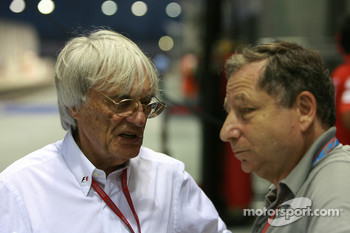 Bernie Ecclestone, President and CEO of Formula One Management and Jean Todt