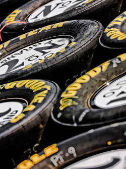 Tires in the Jack Daniels pit stall
