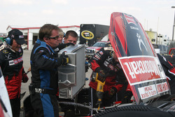Motorcraft Ford in the garage for damage repair