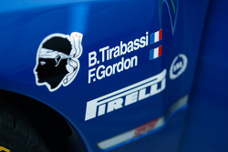 Detail on the car of Brice Tirabassi and Fabrice Gordon, Subaru World Rally Team, Subaru Impreza WRC