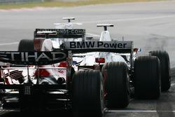 Robert Kubica,  BMW Sauber F1 Team and Felipe Massa, Scuderia Ferrari