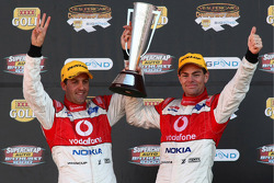 Craig Lowndes and Jamie Whincup win the 2008 Bathurst 1000