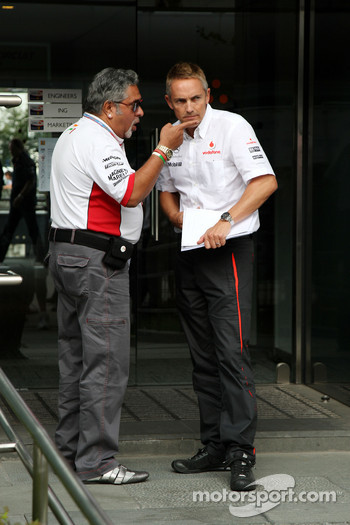 Vijay Mallya, Force India F1 Team, Owner and Kingfisher CEO and Martin Whitmarsh, McLaren, Chief Executive Officer