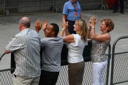 Lewis Hamilton's family celebrate