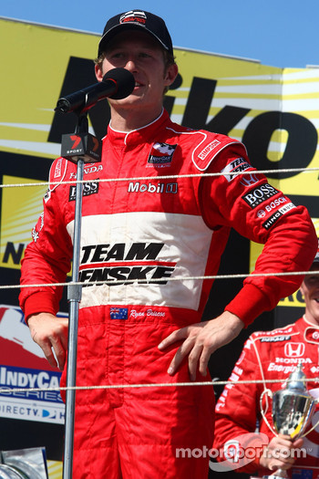Podium: race winner Ryan Briscoe