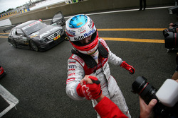 Third place Alexandre Prémat celebrates
