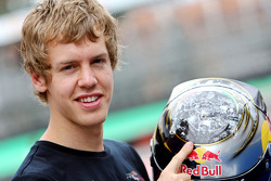 Sebastian Vettel and his new helmet