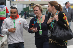 Nicholas Hamilton, Brother of Lewis Hamilton, McLaren Mercedes and Linda Hamilton, Step-mother of Lewis Hamilton, McLaren Mercedes