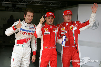 Pole winner Felipe Massa, second place Jarno Trulli, third Kimi Raikkonen