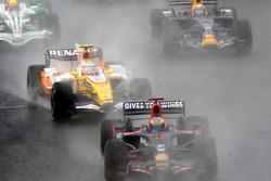 Start: Sébastien Bourdais, Nelson A. Piquet and Mark Webber