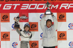 Championship podium: GT500 winners Toyota Team Toms, GT300 winners Team Mola