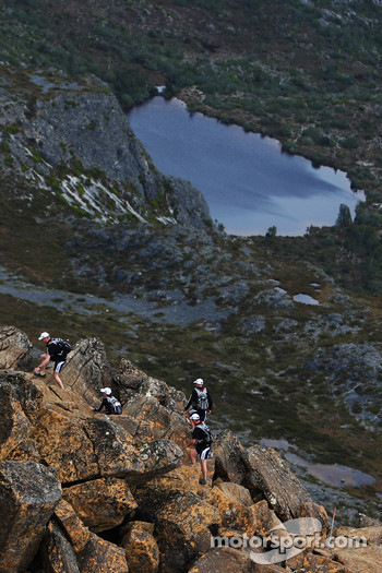 Launceston, Australia: competitors climb to the summit of Cradle Mountain