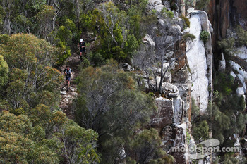Port Arthur, Australia: competitors trek along the coastline