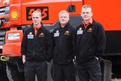 Team de Rooy: driver Gerard de Rooy, co-drivers Tom Colsoul and Marcel van Melis, rally truck #505