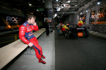 Sbastien Loeb on his mobile phone