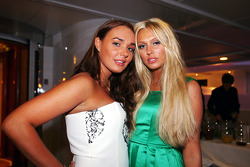 Tamara and Petra Ecclestone at the Fly Kingfisher boat party on the Indian Empress