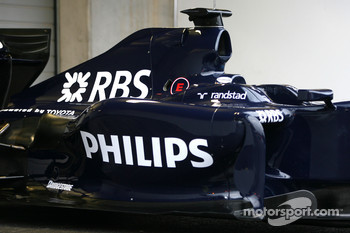 The new Williams FW 31 body work detail